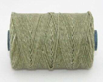 Waxed Irish Linen Thread Olive Drab 4 Ply