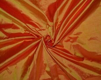 Silk taffeta in   Sunset Orange - Fat quarter -TF 73
