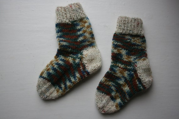 Nature Toes: Hand-knit Baby Socks, 3-6 months
