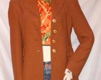 Rust Wool Blazer FERRE Italy Studio 0001 sz 42/8