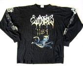 Rare WINDIR 1184 Concert T-Shirt Tee-Shirt Indie Heavy Black Metal Indie Shirt XL LS 100% Cotton 90s Band