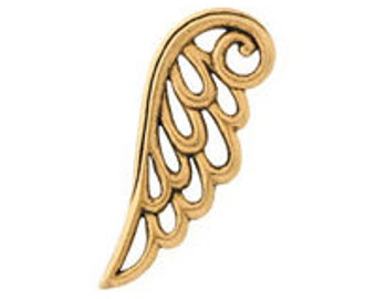 Lot of 10,  Antique Gold, Angel Wing,