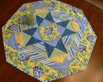 French Country Octagon Quilted Table Topper