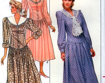 Butterick 5755 Vintage 80s Misses' Dress Sewing Pattern - Uncut - Size 6, 8, 10