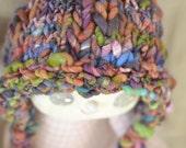 SALE Blizzard Bonnet - Newborn Hat Knit Handspun