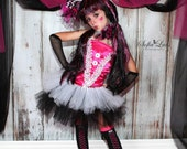 Draculara Monster High inspired tutu set.......Fabulous for Halloween,photo props and dress up