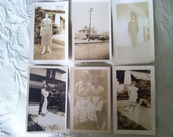 Vintage Photographs, Sepia, Black and White, Lot of 6