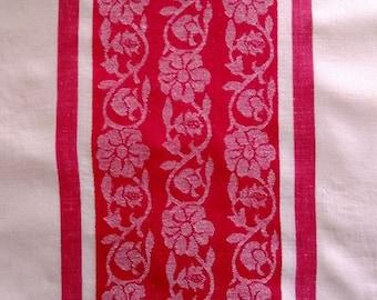 Vintage 1960 S Sears Green White Plush Cotton Rayon