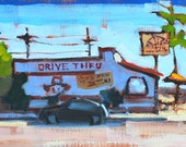 Taco Shop in North Park- San Diego Landscape Painting