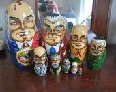 Set of Nine Russian Nesting Dolls, Matryoshka