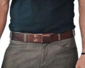 Everyday Belt - Handmade Leather - Brown