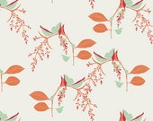 White Floral Cotton Fabric Reminisce Branchlets in Porcelain by Art Gallery, 1 yard- SALE
