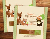 Woodland Neutral Candy Bar Wrappers - Baby Shower, Birthday Favors - printed or printable