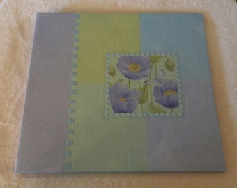 Blue Poppy 12 x 12 Scrapbook Album