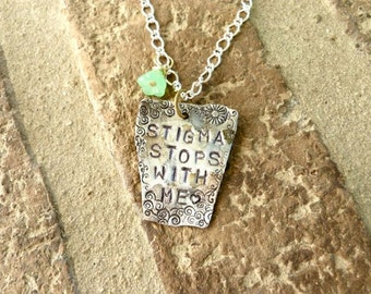 Stigma Stops with Me, Mental Health, necklace
