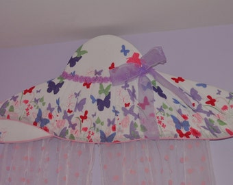 Upholstered bed cornice -window cornice ,,Butterflies''