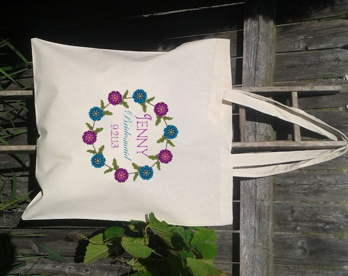 Bridesmaid Tote Bag Gift Bags - Welcome Bags for Wedding -Bridesmaid