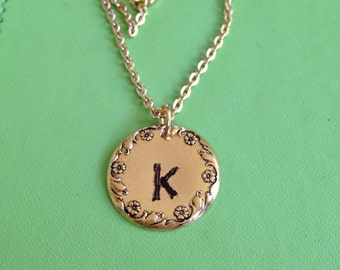 Initial K Gold Necklace