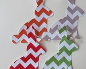 Iron or Sew On Easter Bunny Rabbit Chevron Applique You Choose Color and Amount