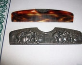 Vintage Silver Tavern Comb (MM183)Recently Marked Down