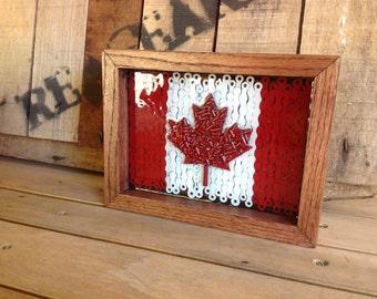 CANADA - flag series of reclaimed bike chain