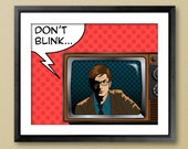 Doctor Who Pop Art Poster - Don't Blink or Wibbly-Wobbly Timey-Wimey