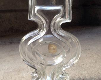 Riihimaen Lasi Helena Tynell Glass Vase Mid Century