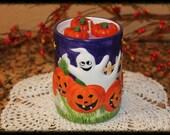 Pumpkin Crunch Pie Scented Halloween Ghosts & Pumpkins Candle