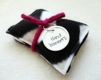 CHEVRON Hand Warmers Fleece Rice Bags Handwarmers by WormeWoole
