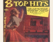 Vintage Vinyl, 1950s 10 Inch LP 8 Top Hits Waldorf Music Hall Record Betty Cox, Dottie Evans