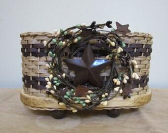 Napkin Basket / Jelly Basket / Handwoven Basket / Organizer Basket