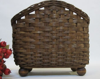 Napkin Basket / Table Top Basket / Handwoven Basket
