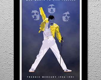 Queen Freddie Mercury Limited Edition Original Poster signed