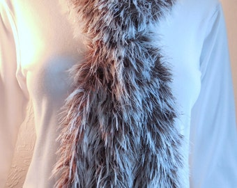 Grizzly faux fur scarf