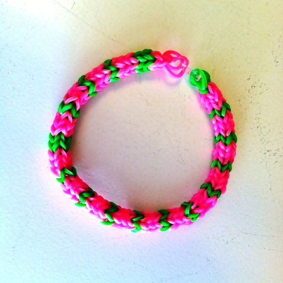 pretty in pink rainbow loom hexafish size 7 adult size