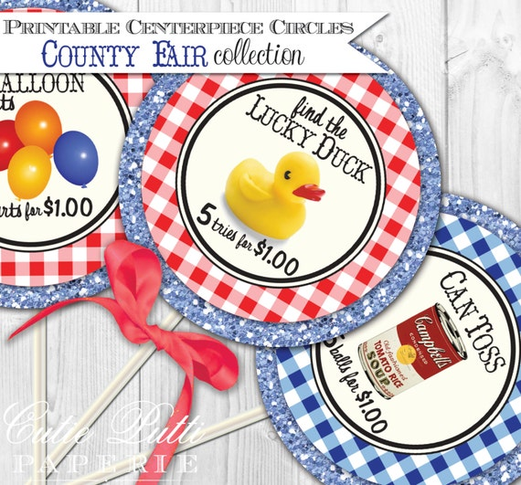"Items Similar To County Fair Party Printable 4"" Themed"