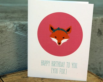 Birthday Card | Happy Birthday Card | Card for her | Card for Wife | Card for Girlfriend | Card for friend | Love Card | Gift Card | Fox