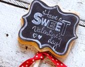 5 Chalkboard valentine cookie pops
