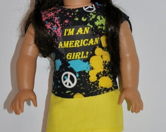 I'm an american girl skirt and top outfit  that fits AMERICAN GIRL DOLLS