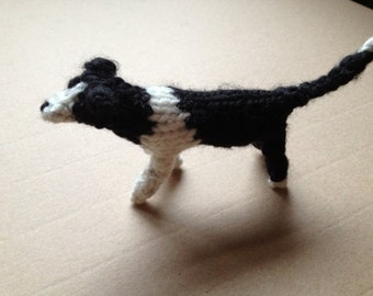 Border Collie knitted in wool