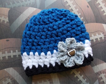 Detroit Lions inspired baby hat - sports props - team sports - made to order