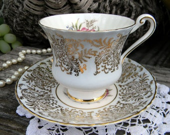 Paragon Tea Cup, Teacup and Saucer, Vintage Bone China, Antique Tea Cups, Tea Cup Set 11021