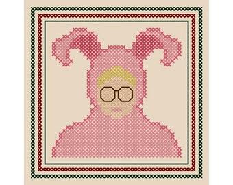 Set Of Three Irreverent Cross Stitch Ornament Charts