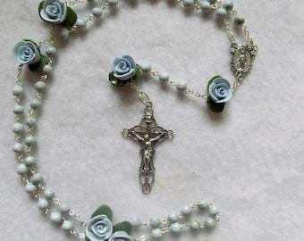 Handmade Clay Blue-Gray Rosary