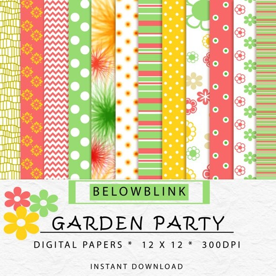 Garden Tea Party Backdrop