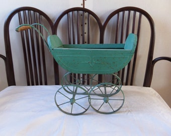 French Antique Victorian Doll Cart 1870s