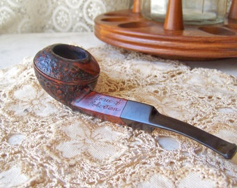 Vintage Pipe House of Robertson Tobacco Pipe Smoking Accessory 1950s Mad Men Mid Century