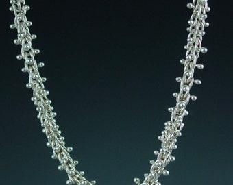 Fine Siver Caterpillar Necklace