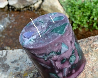 Handcrafted Candle Tranquil Moments Orchid Candle Round  Pillar  XX LARGE   6 x 6 Triple Wicks Ready to Ship