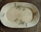 Ironstone Platter with Floral Design